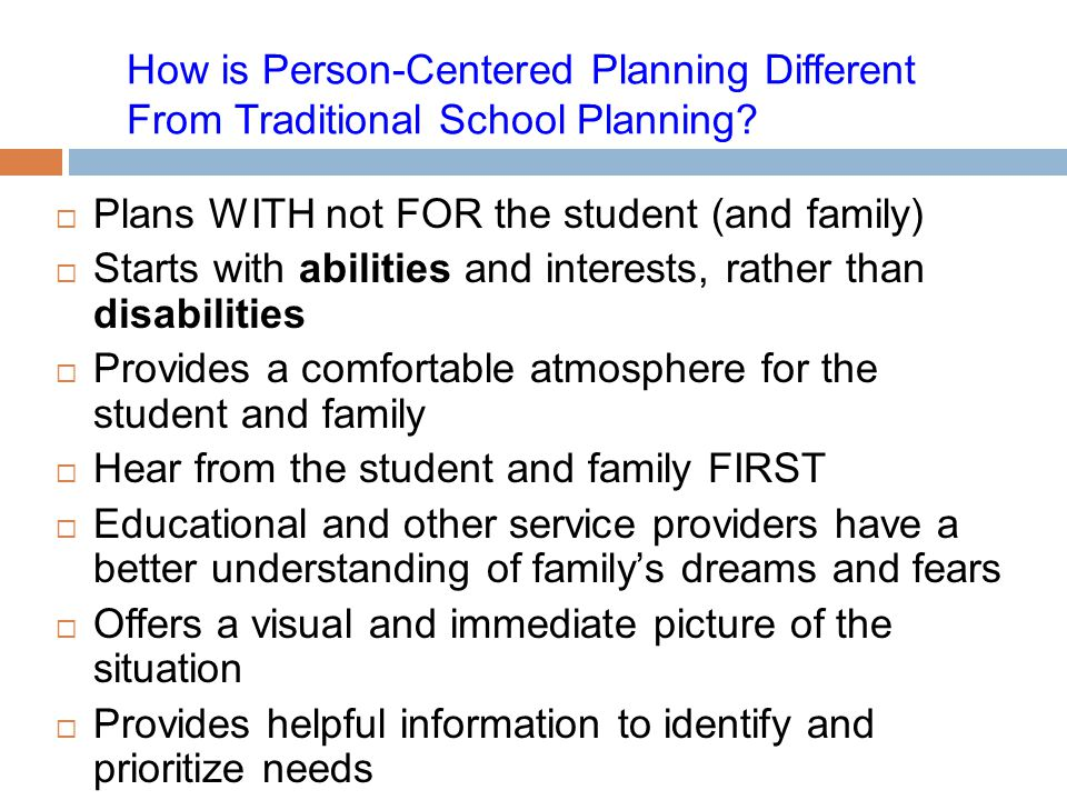 How is Person-Centered Planning Different From Traditional School Planning