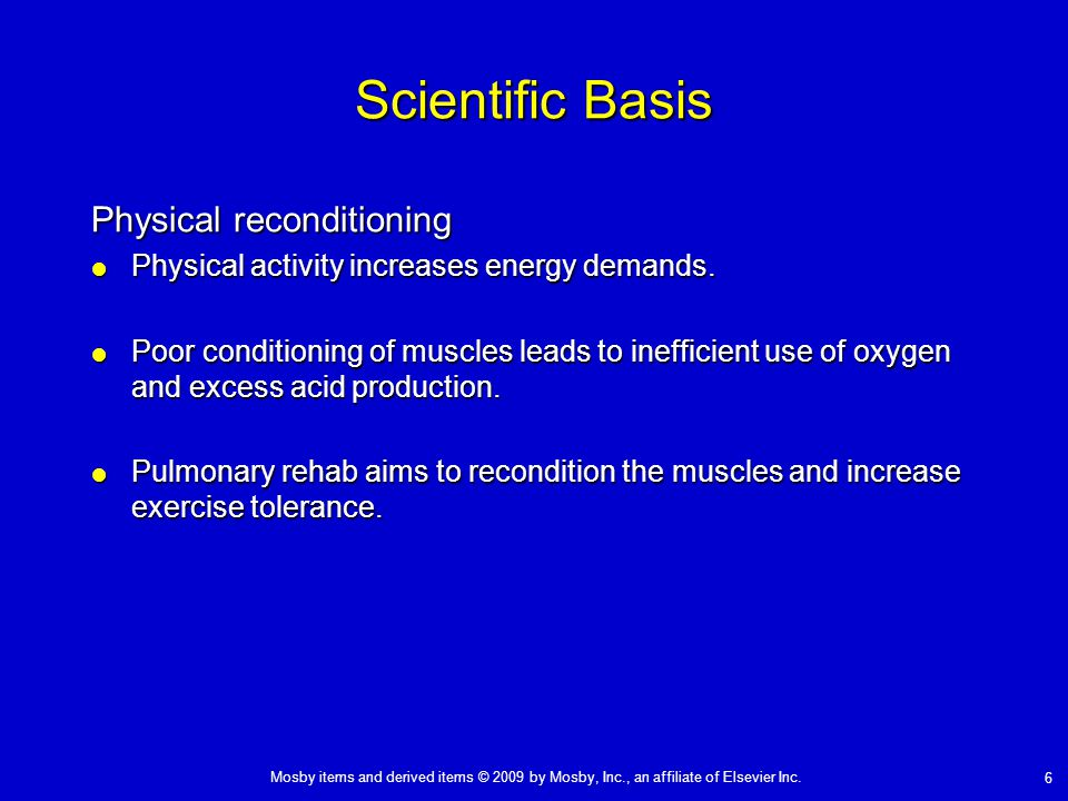 Scientific Basis Physical reconditioning