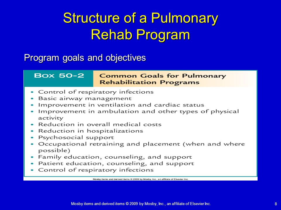 Structure of a Pulmonary Rehab Program