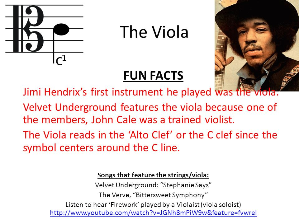 Songs that feature the strings/viola: