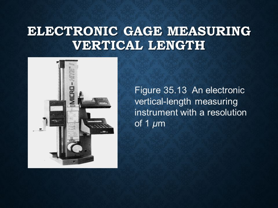 Electronic Gage Measuring Vertical Length