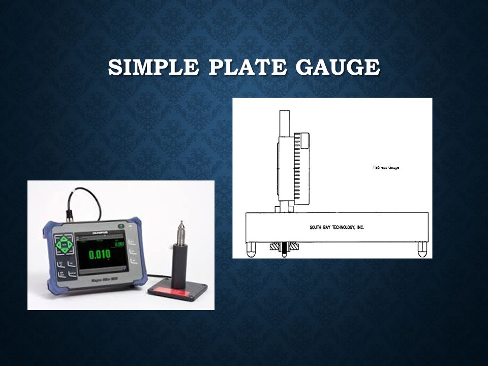 Simple plate gauge Flatness Gauge