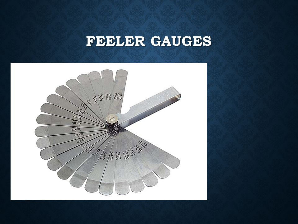 Feeler gauges
