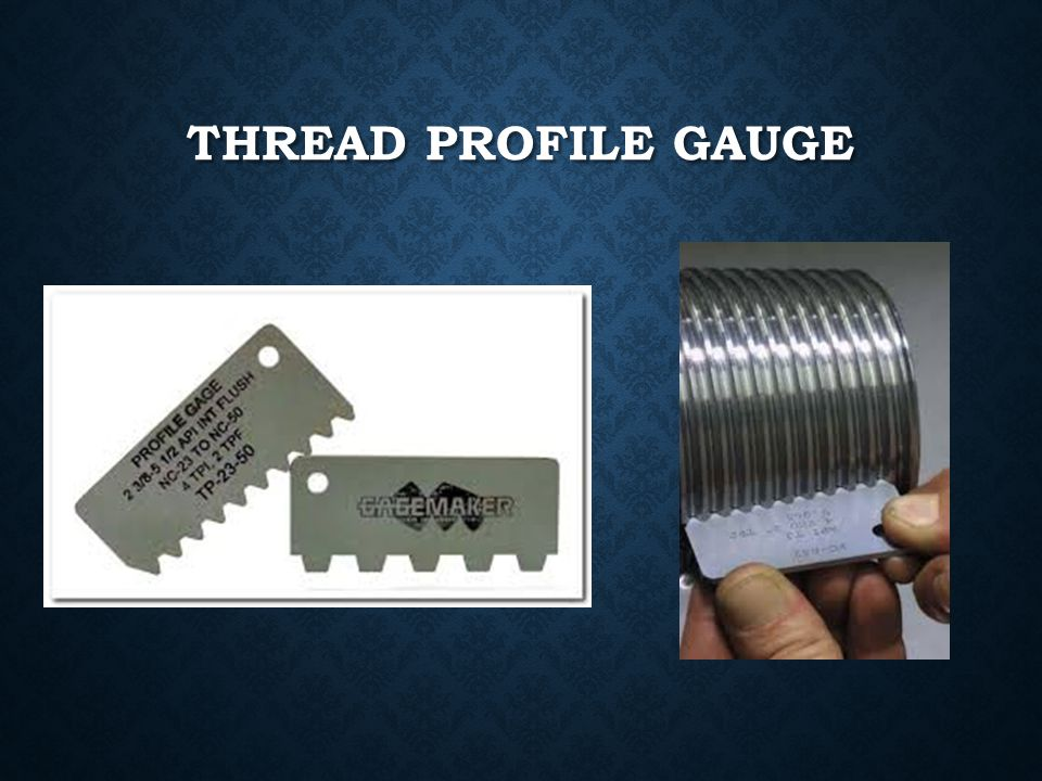 Thread profile gauge