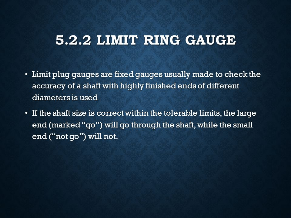 5.2.2 Limit Ring Gauge