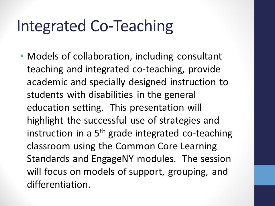 Integrated Co-Teaching