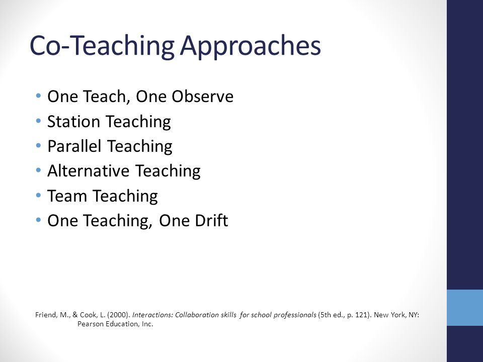 Co-Teaching Approaches