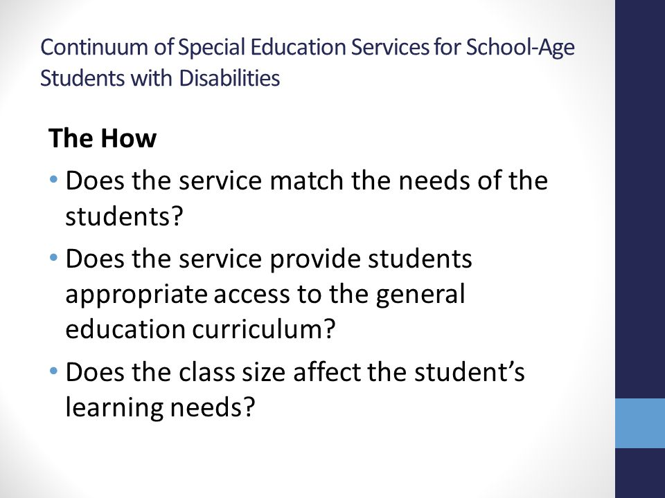 Does the service match the needs of the students