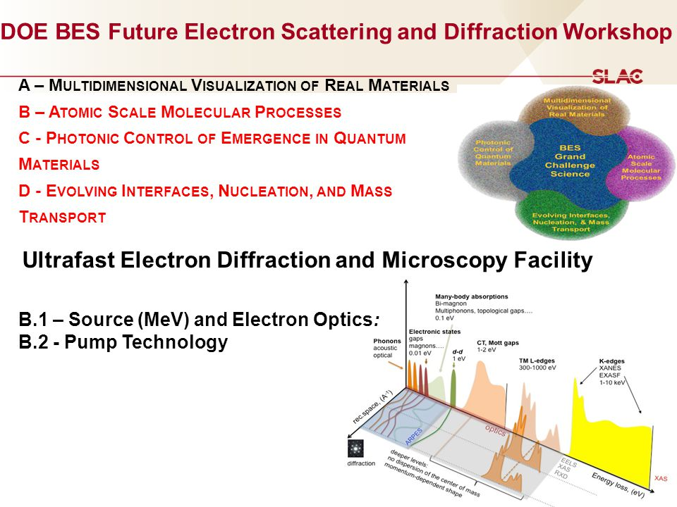 DOE BES Future Electron Scattering and Diffraction Workshop
