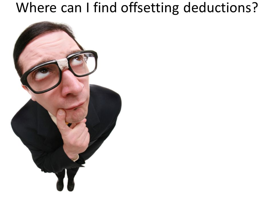 Where can I find offsetting deductions