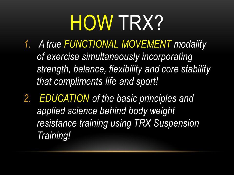 How TRX