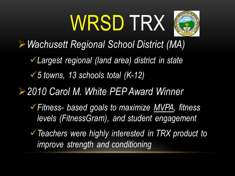 WRSD TRX Wachusett Regional School District (MA)