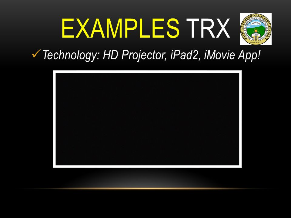 Technology: HD Projector, iPad2, iMovie App!