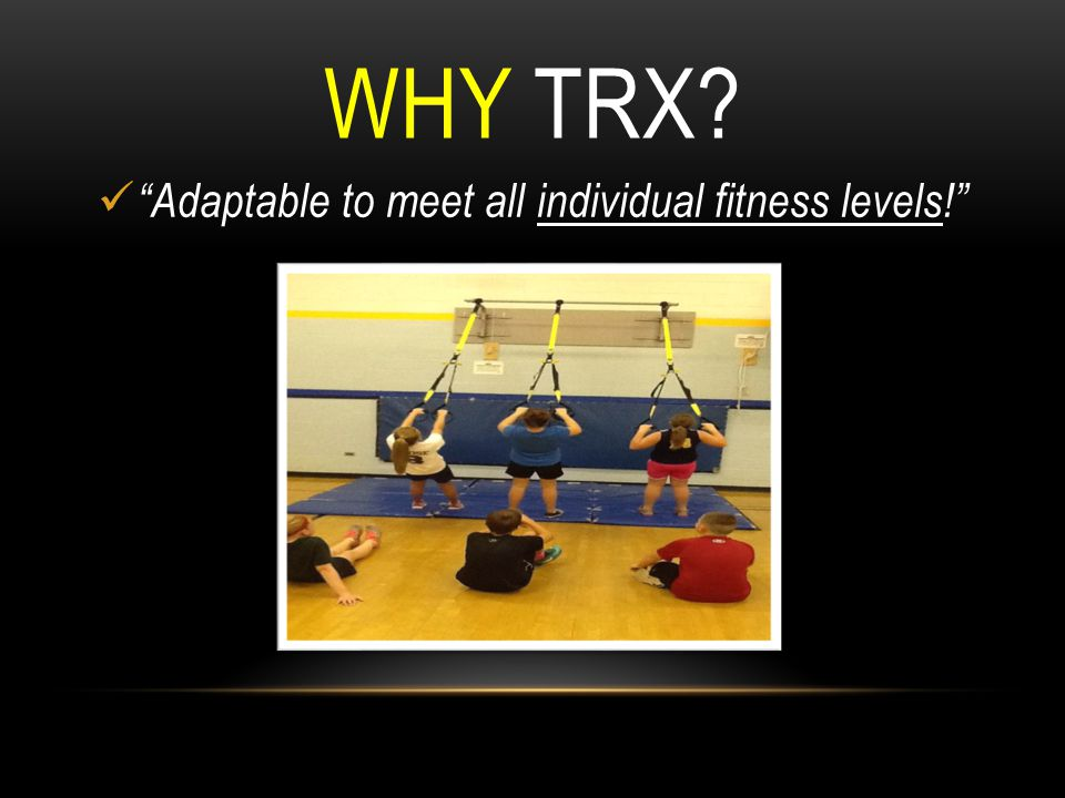 Adaptable to meet all individual fitness levels!