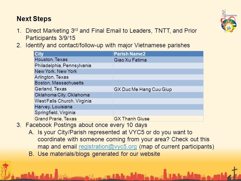 Next Steps Direct Marketing 3rd and Final Email to Leaders, TNTT, and Prior Participants 3/9/15.