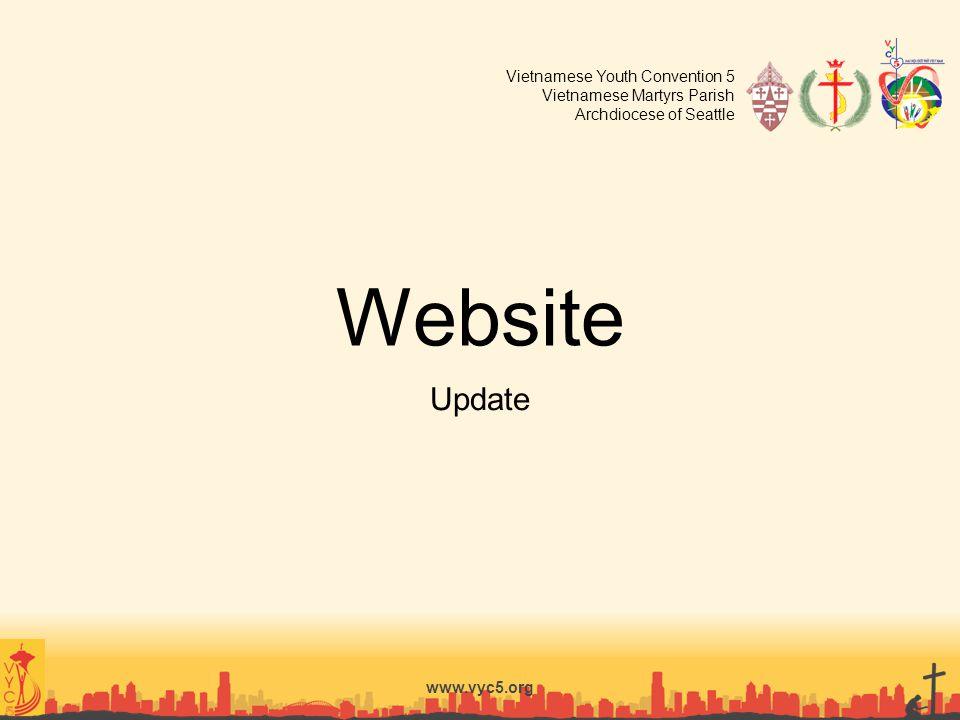 Website Update www.vyc5.org