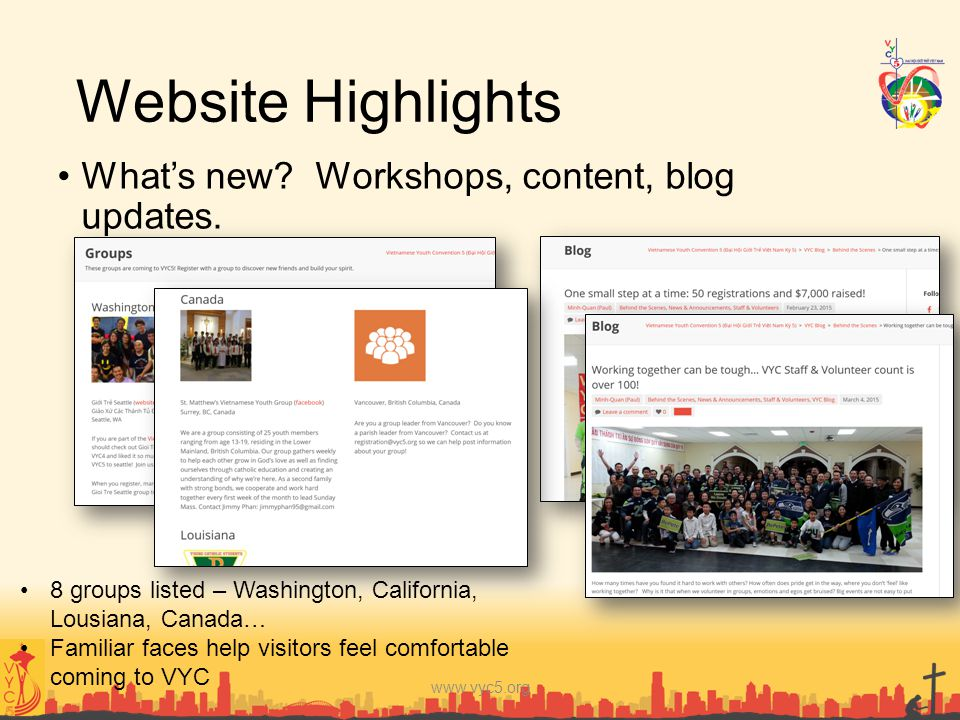 Website Highlights What's new Workshops, content, blog updates.