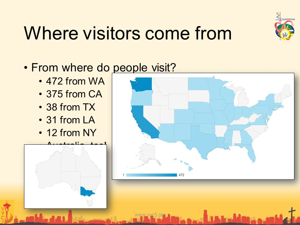 Where visitors come from