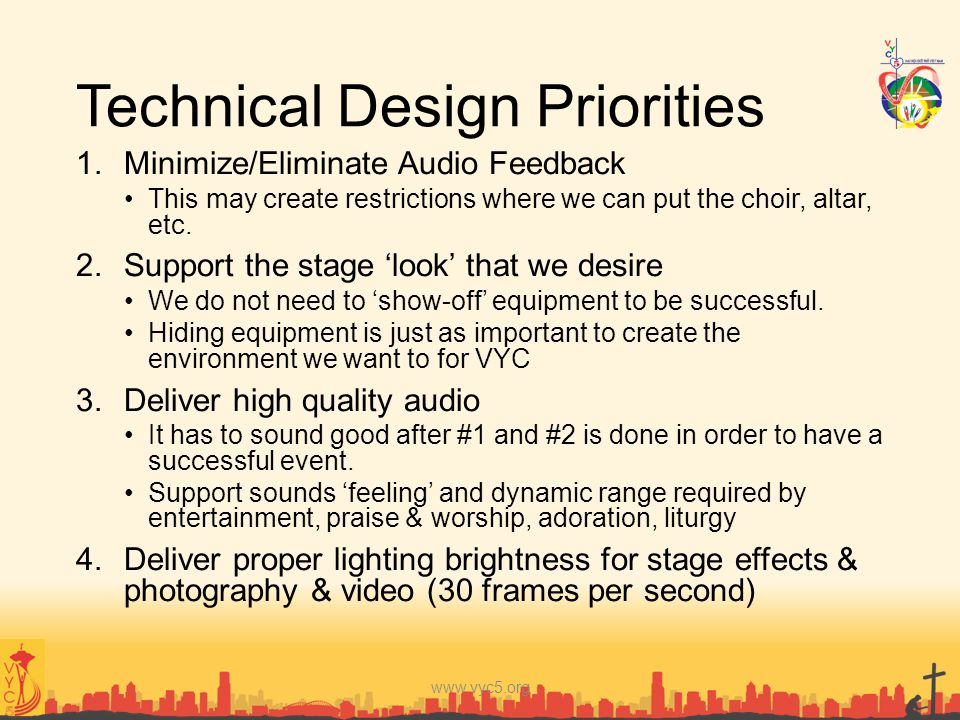 Technical Design Priorities