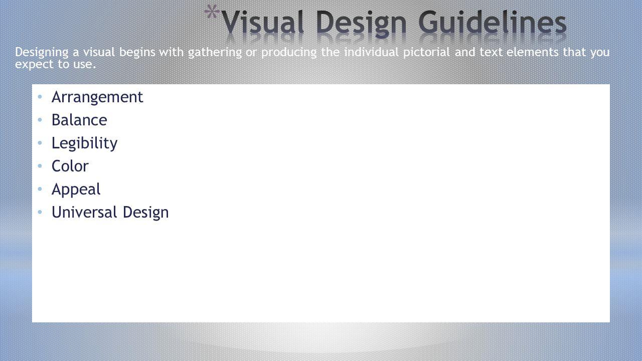 Visual Design Guidelines