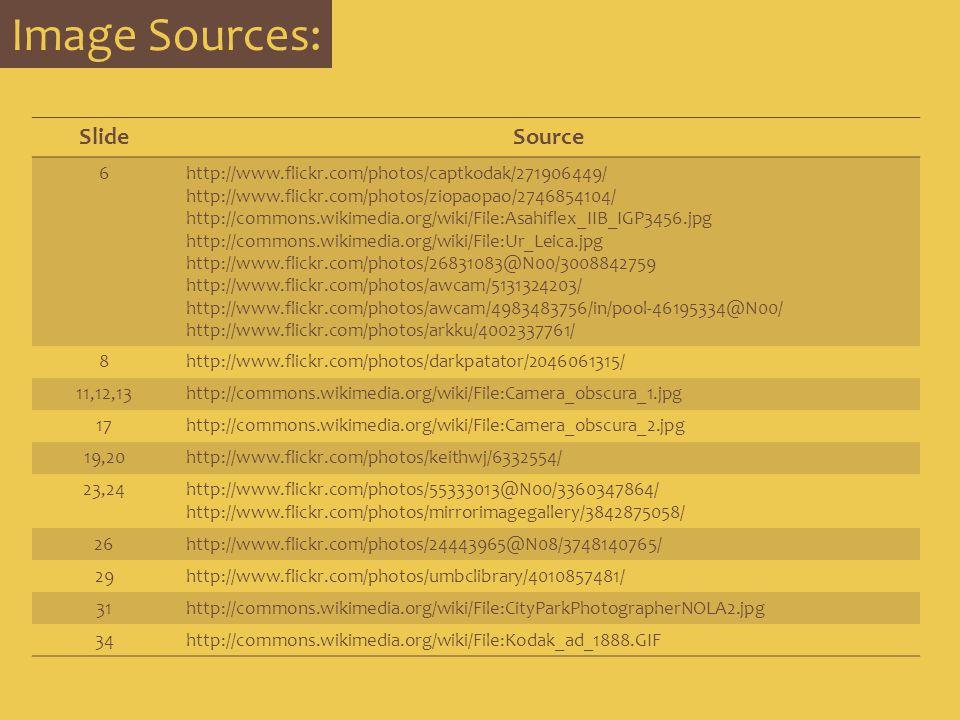 Image Sources: Slide Source 6