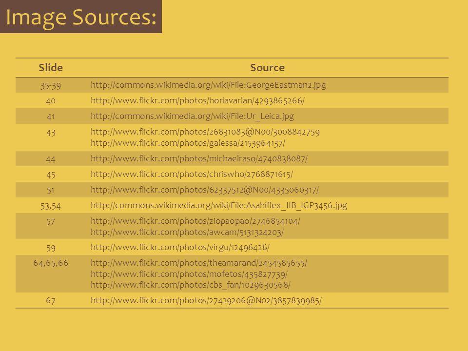 Image Sources: Slide Source 35-39