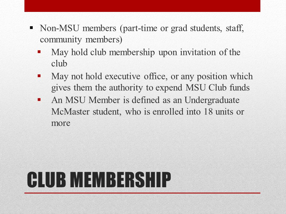 Non-MSU members (part-time or grad students, staff, community members)