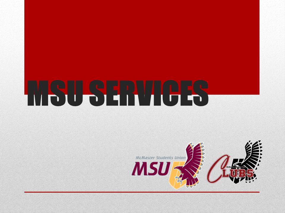 MSU SERVICES