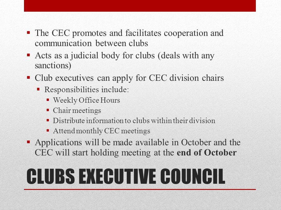 CLUBS EXECUTIVE COUNCIL