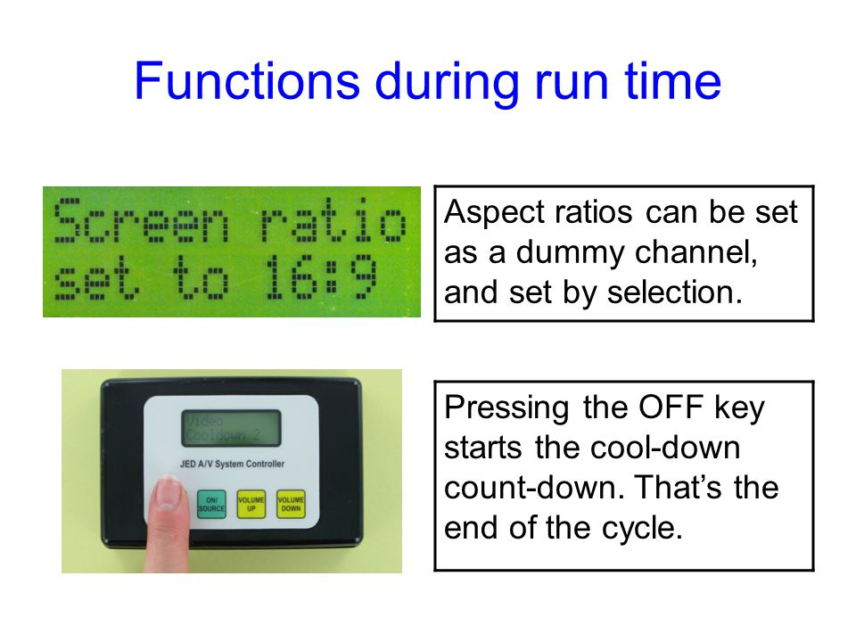 Functions during run time