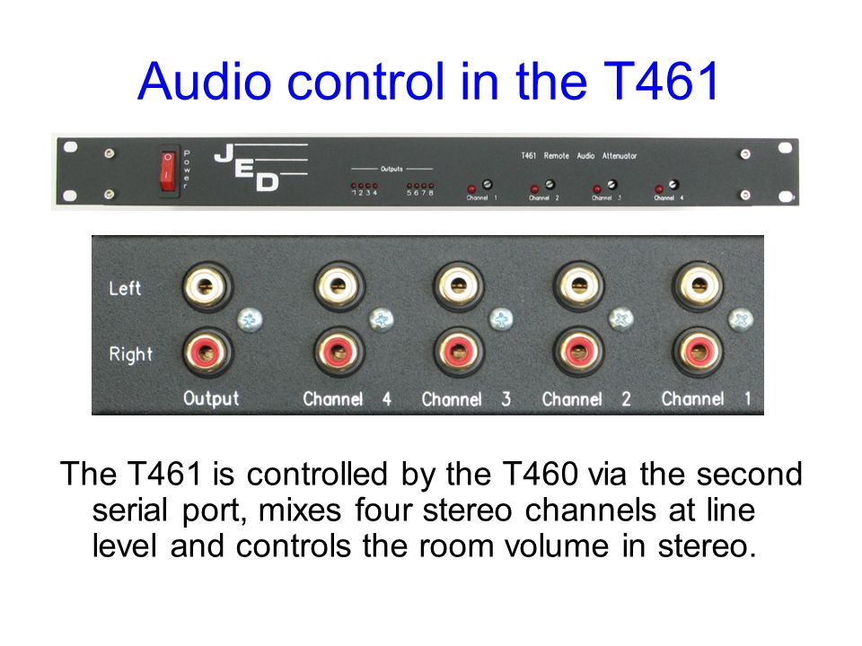Audio control in the T461