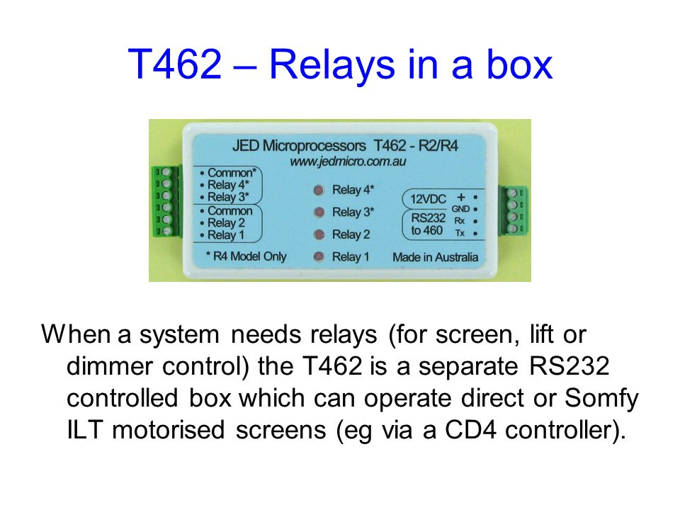 T462 – Relays in a box