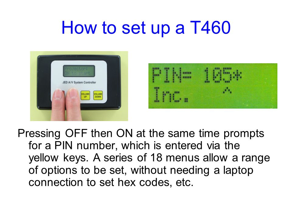 How to set up a T460