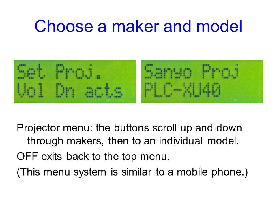 Choose a maker and model