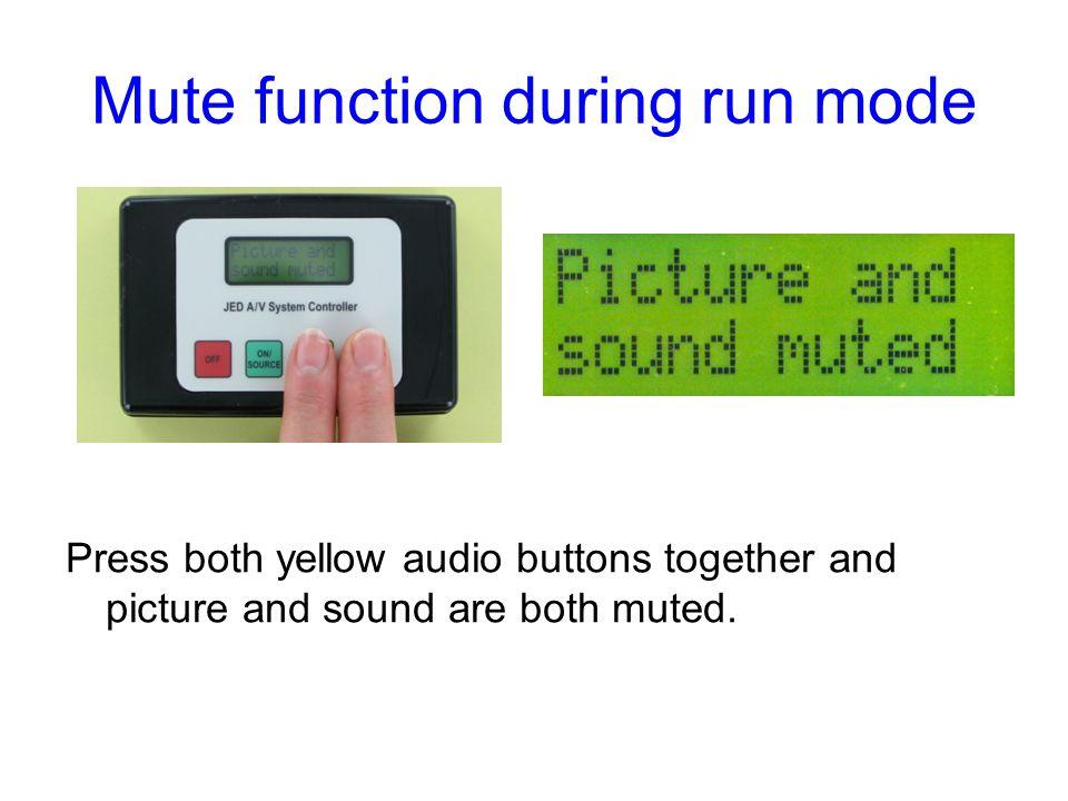Mute function during run mode