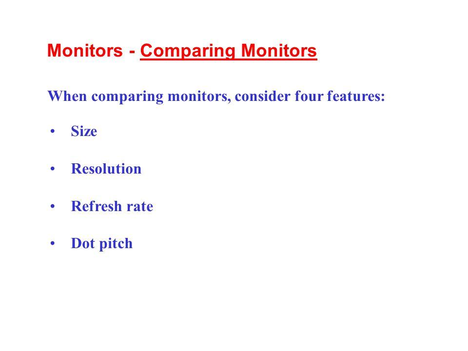 Monitors - Comparing Monitors