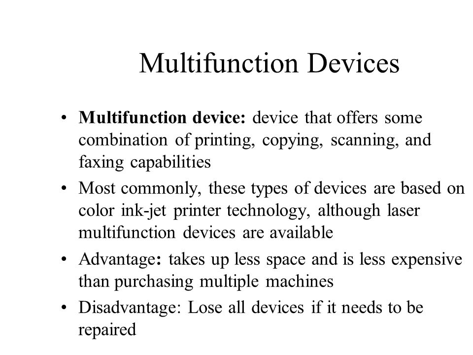 Multifunction Devices
