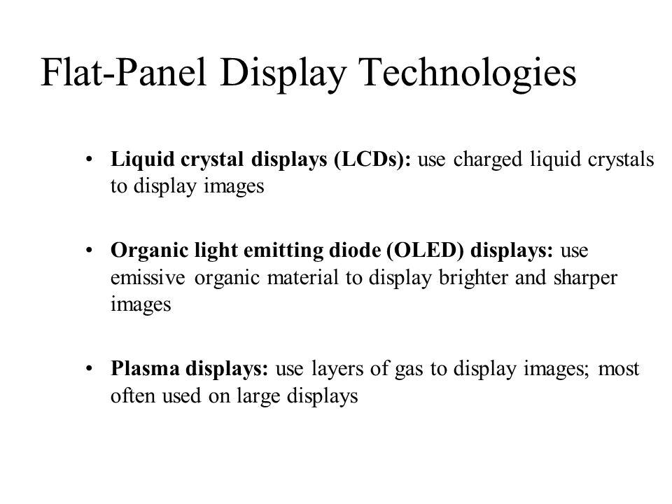 Flat-Panel Display Technologies