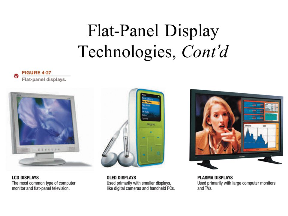 Flat-Panel Display Technologies, Cont'd