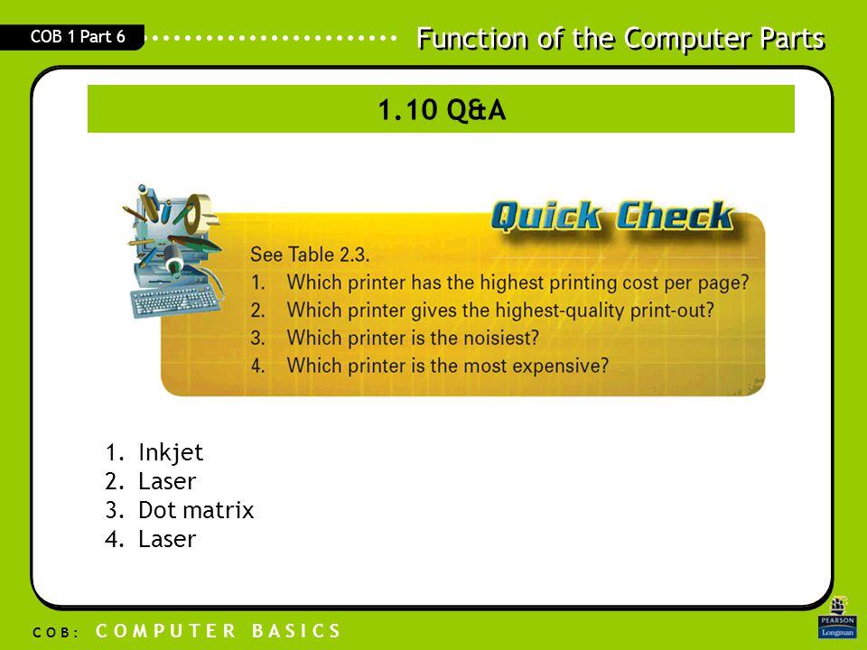 1.10 Q&A Inkjet Laser Dot matrix