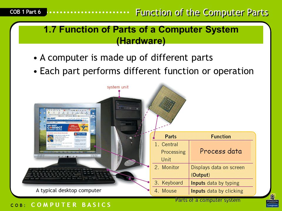 the computer system components and functions Everything in a computer system is connected to it  built into a chip) that  operates the basic functions of a computer bios contains all the code required to .