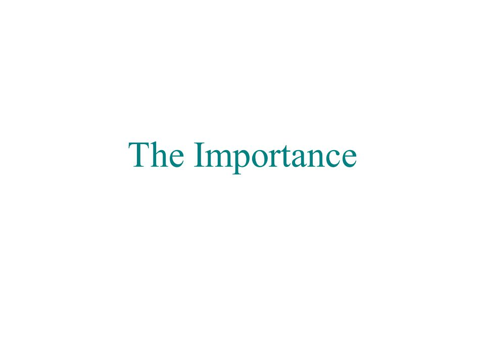The Importance Marco Liserre liserre@ieee.org