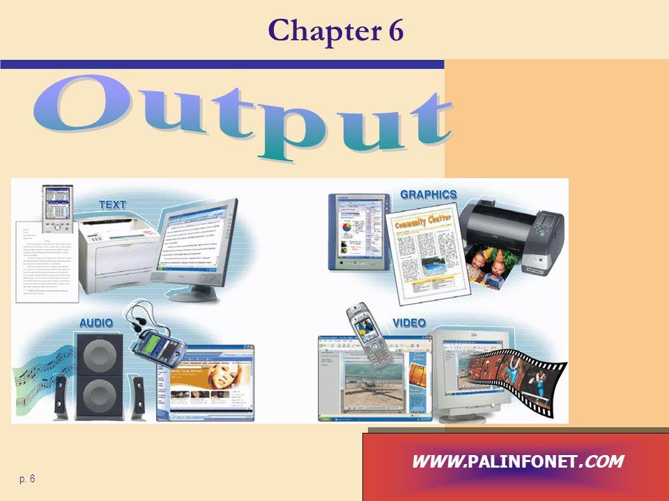 Chapter 6 Output WWW.PALINFONET.COM p. 6