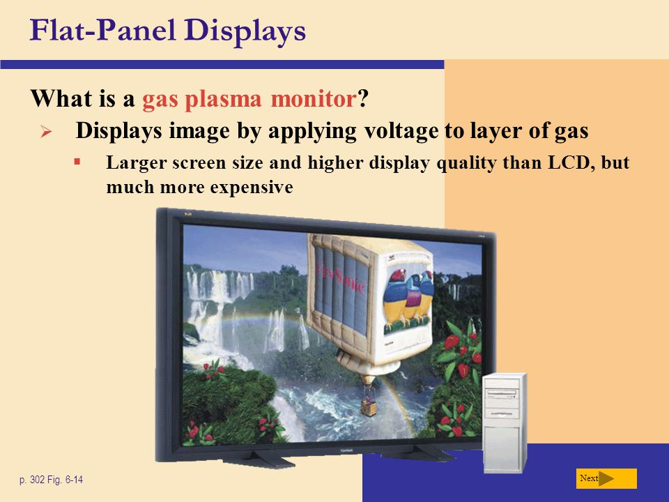 Flat-Panel Displays What is a gas plasma monitor
