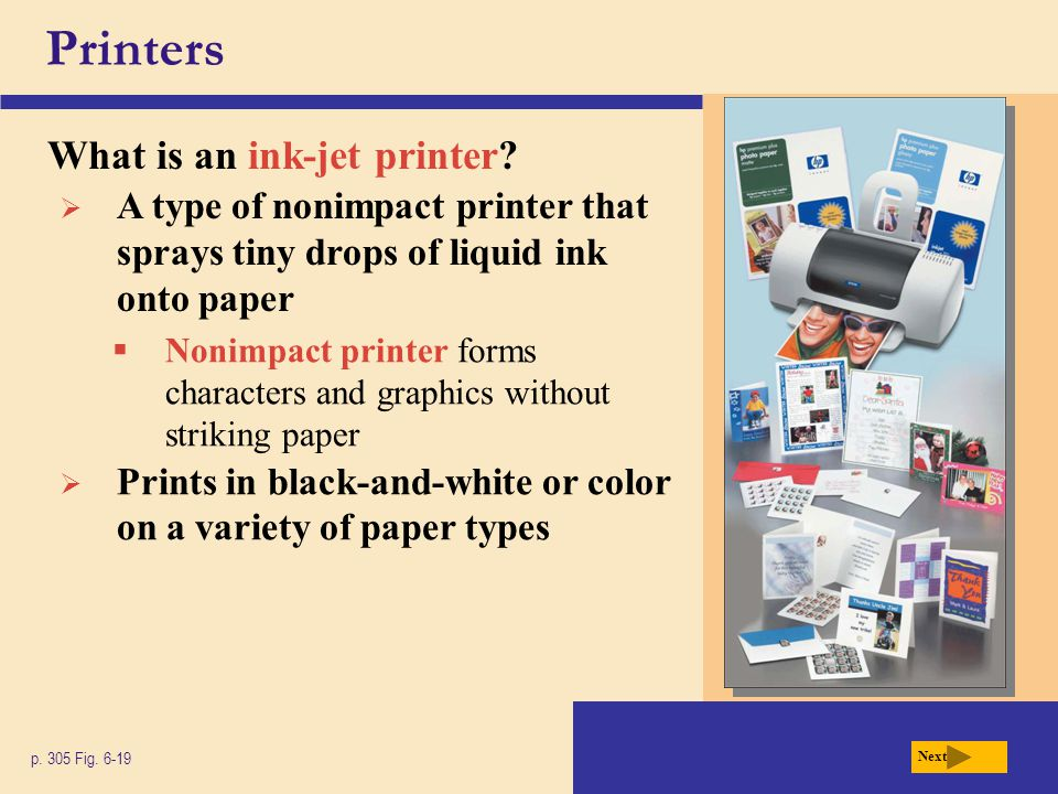 Printers What is an ink-jet printer