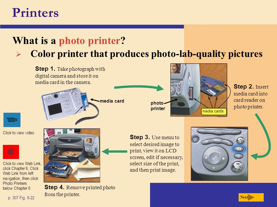 Printers What is a photo printer