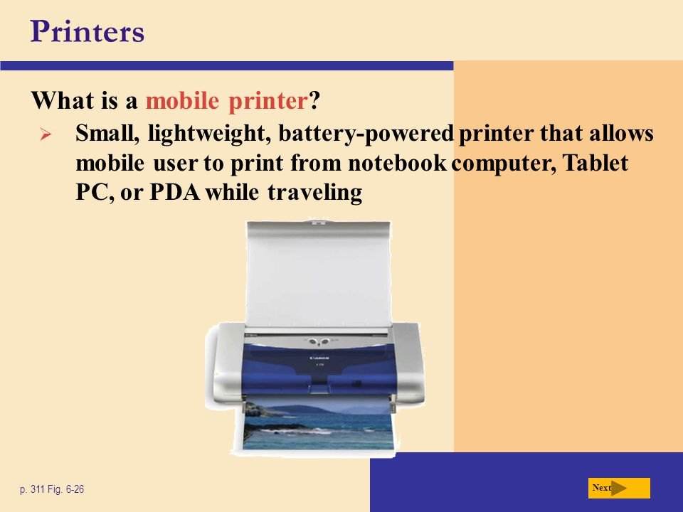 Printers What is a mobile printer