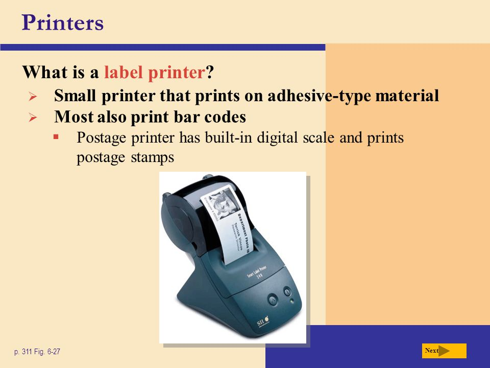 Printers What is a label printer