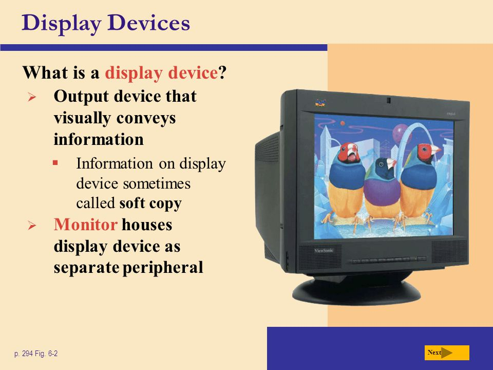 Display Devices What is a display device