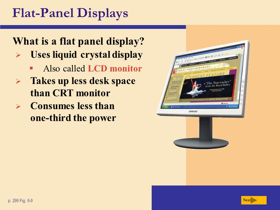Flat-Panel Displays What is a flat panel display